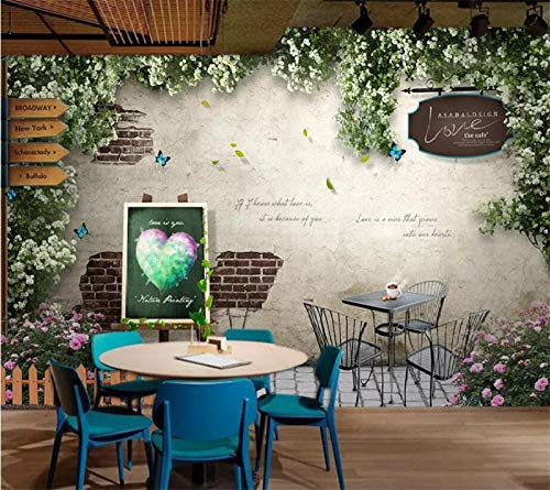 LIGAHUI Photo Wallpaper Coffee Table Flower 3D Wall Mural Printed on Non Woven Paper for Living Room Bedroom Office TV Background Wall Art Decoration 98.4 x 68.9 inch