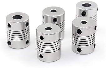 2PCS Coupleur Coupleurs Flexible 5mm /à 8mm NEMA 17 Arbre pour RepRap 3D Imprimante ou Machine CNC Eewolf