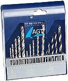 AGT Betonbohrer: Bohrer-Set 15-tlg. mit HSS-Metallbohrer, Holz- & Steinbohrer (Holzbohrer Set)
