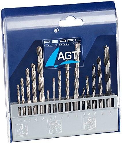 AGT Betonbohrer: Bohrer-Set 15-tlg. mit HSS-Metallbohrer, Holz- & Steinbohrer (Beton Bohrer Set)