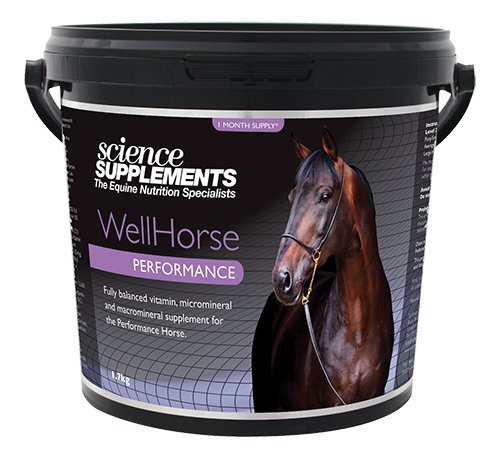 Science Supplements WellHorse Performance For Horses & Ponies - General Vitamin & Micromineral Equine Supplement With Added Glucosamine & MSM - 1.7kg