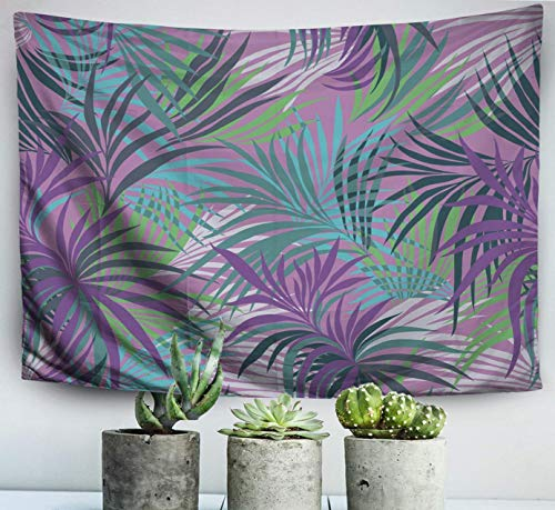 Home Art Decor Wall Hanging Tapestry Tropical Print Palm Leaves withfor Living Room Dorm Background Tapestries
