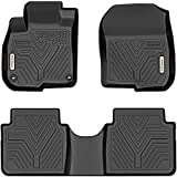 YITAMOTOR Floor Mats Compatible with Honda 2017-2021 CR-V, 1st & 2nd Row All Weather Protection, Black