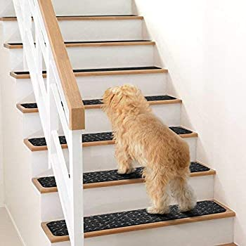 Carpet Stair Treads Set of 13 Non Slip/Skid Rubber Runner Mats or Rug Tread – Indoor Outdoor Pet Dog Stair Treads Pad...