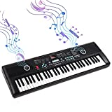 61 Keys Keyboard Piano, Electronic Digital Piano with Built-In Speaker Microphone, Portable Keyboard Gift Teaching for Beginners,piano keyboard for kids