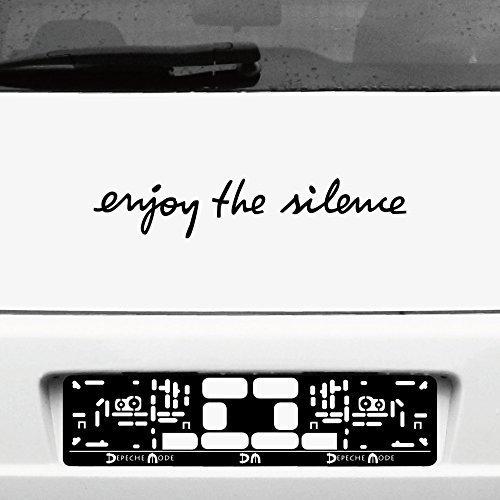 GreenIT Schriftzug Enjoy The Silence Aufkleber Tattoo die Cut car Decal Auto Heck Deko Folie Depeche Mode (schwarz)