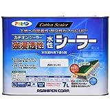 アサヒペン 強浸透性水性シーラー 透明(クリヤ)7L