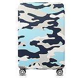YianBestja Elástico Funda Protectora de Maleta Luggage Protective Cover, Viaje Equipaje Cubierta Carretilla Protectora Cubierta (Camouflage 1, S (Equipaje de 18-21 Pulgadas))