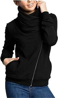 Mujer Chaquetas Abrigo Casaca Bolsillo Liso Diagonal Cremallera Cuello Alto Babero Camiseta Ropa de Abrigo
