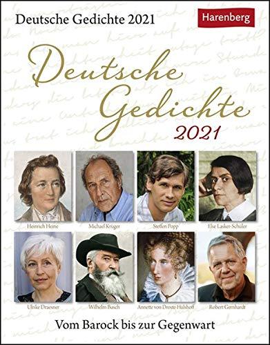 Deutsche Gedichte Kalender 2021: Vom Barock bis zur Gegenwart