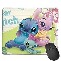 ステッチ マウスパット 小型マウスパッドは18×22cm 洗える 滑り止め 高級感 耐久性が良い