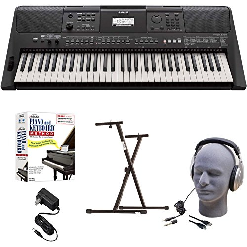 Check Out This Yamaha PSR-E463 EPY Educational Keyboard Pack with Power Supply, Bolt-On Stand, Headp...
