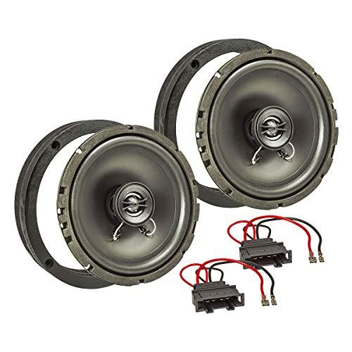 tomzz Audio 4057-003 Lautsprecher Einbau-Set MDF passend für VW Golf 4 IV Passat 3BG Polo 9N 6R Tür vorne 165mm Koaxial System TA16.5-Pro