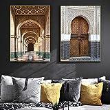 FA LEMON Gebäude Bild Drucken Vintage Marokko Tür Kunst