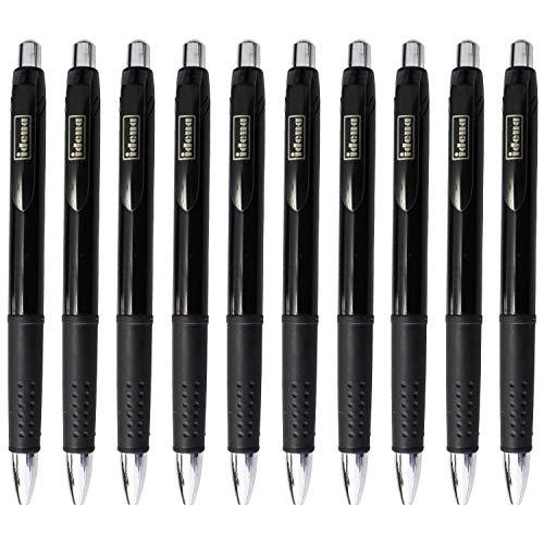 Idena 10130956 - Kugelschreiber mit Druckmechanik, 10 Stück Schwarz