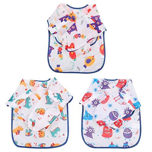 Lictin Baby Lätzchen zum Bemalen Mädchen Lätzchen 10 Stücke Lätzchen Wasserdicht