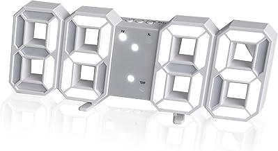 3D LED Digital Wall Clock Table Desktop Alarm Clock Nightlight For Home Living Room Office