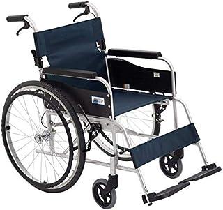 ZT-TTHG アルミ車椅子、アテンダント推進車椅子、リアホイール22障害者や障害を持つユーザーに適しインチ、ディープブルー、