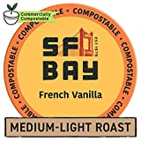 SF Bay Coffee French Vanilla 80 Ct Flavored Medium Roast Compostable Coffee Pods, K Cup Compatible including Keurig 2.0 (Packaging May Vary)