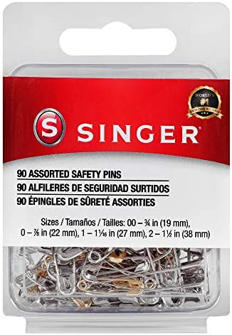 SINGER 00221 Assorted Safety Pins Multisize 90 Count product image