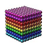 OBEST マグネットボール 立体パズル バッキーボール 512個セット﹙5mm﹚おもちゃ DIY工具 (八色タイプ)
