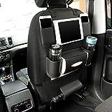 Organisateur de siège de voiture et support pour iPad mini, utilisation universelle comme organisateur de siège arrière de voiture pour enfants, bouteilles de rangement, boîte à mouchoirs, jouets