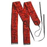 Muñequeras BANBROKEN (1 PAR) Estabilidad en muñecas para Fitness, Gimnasio, Crossfit, Calistenia, Halterofilia, Pesas - Hombre, Mujer -Talla Única (2unds)… (Rojo)