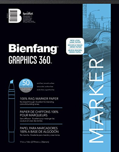 Bienfang Graphics 360 Marker Paper Pad, 11-Inch by 14-Inch, 50 Sheets