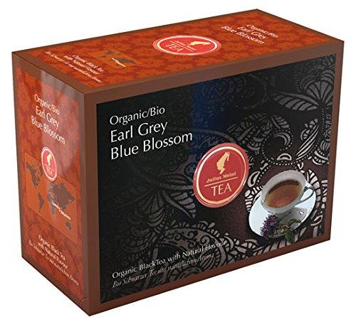 Julius Meinl BIO Earl Grey Blue Blossom Big Bag (1 Teebeutel für ca. 1 lt. Wasser), Bio Schwarzer Tee mit natürlichem Aroma - 20Beutel - 2x
