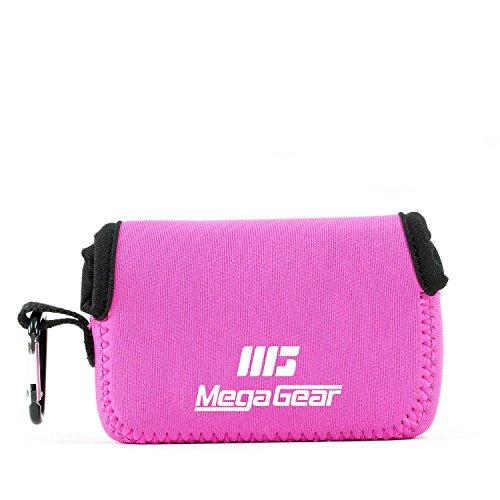 MegaGear MG1248 Custodia per fotocamera ultra leggera in neoprene con moschettone, Canon PowerShot SX740 HS, SX730 HS, SX720 HS, SX710 HS, G16, G15, Rosa