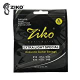 Emilyisky 6 Cuerdas/Set ZIKO DAG 010-011 Cuerdas de Guitarra acústica Instrumentos Musicales Cuerdas de Guitarra acústica Piezas de Guitarra Color Cobre DAG-010
