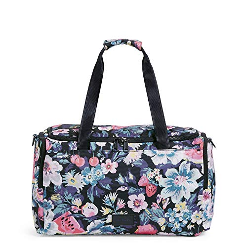 Vera Bradley Women's Recycled Lighten Up ReActive Small Gym Travel Bag, Garden Picnic, One Size