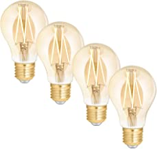 WiZ Smart Tunable Whites LED Filament Globe - A60 E27 Amber Glass - 720lm - Pack of 4 - 2000K~4500K - WiFi - No Hub Requir...