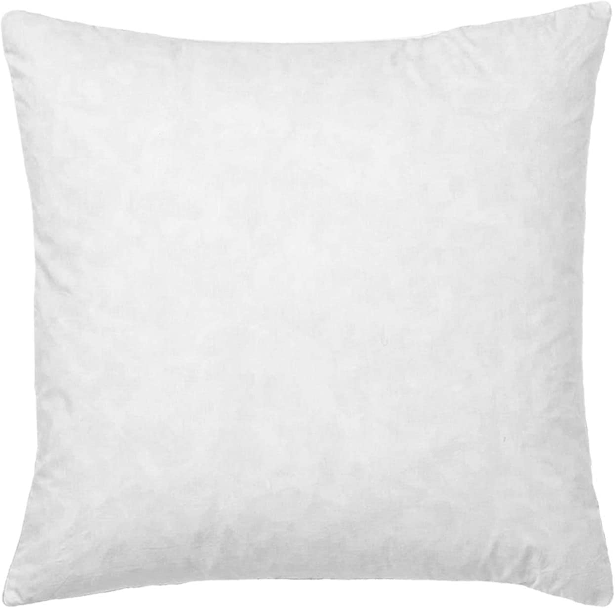 30x30 Euro Pillow Insert, Soft Decorative Down Feather Pillow Stuffer, Premium White Cotton Fabric Pillow Form for Couch, Bed, and Cushion