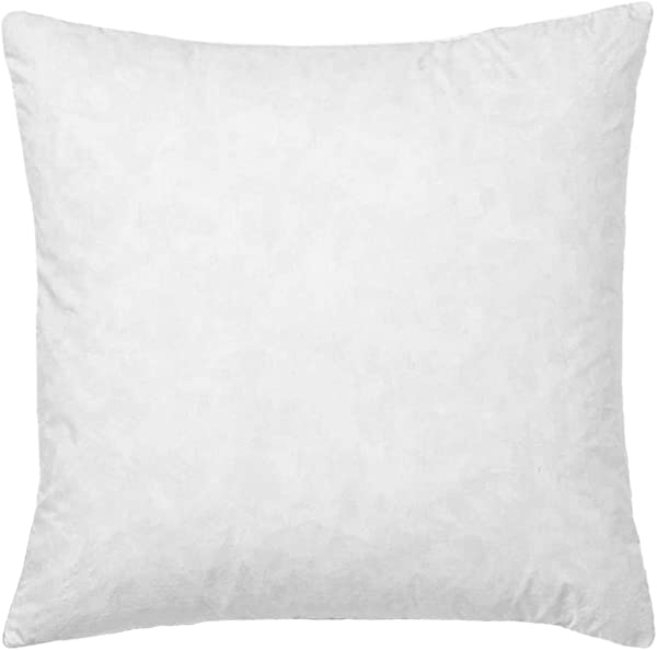 Basic Home 28x28 Euro Throw Pillow Inserts Down Feather Pillow Inserts Cotton Fabric White
