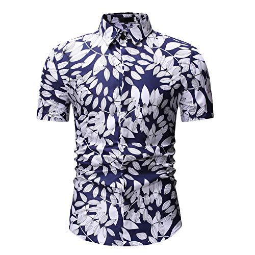 Jinyuan Camisa De Hombre Camisa Hawaiana De Playa con Estamp