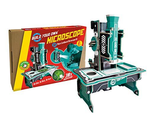 Build Your Own Mikroskop | Erstellen Sie ein voll funktionsfähiges Mikroskop | x30-fache Vergrößerung | Für Kinder ab 8 Jahren | Nachhaltiges Steck-Set | Bildung & STEM