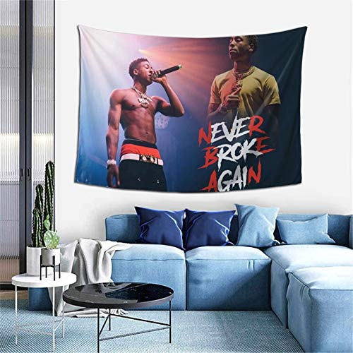 Bestrgi Print Tapestry Y-ou-ng and Boy N-e-v-er B-r-o-k-e Decorations A-ga-in Decor Wall Art Blanket Tapestries Colorful Bedroom Hall Dorm Living Room Muisc Ready to Hanging Bedding 60 x 40 inches