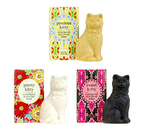Greenwich Bay Trading Company – Kitty Sculpted Soap Bundle- Precious Kitty + Pretty Kitty + Sweet Kitty