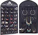 Misslo - Organizador colgante para joyas, 32 bolsillos, 18 bucles, accesorios de almacenamiento