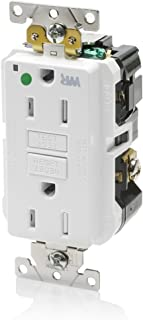 Leviton GFWT1-HGW 15A-125V Extra-Heavy Duty Hospital Grade Tamper/Weather-Resistant Duplex Self-Test GFCI Receptacle, 15-Amp, White