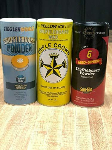 Triple Crown Yellow Ice III Shuffleboard Wax