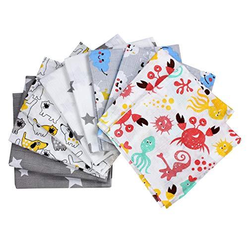 TupTam Baby Mullwindeln Spucktücher 70x80 5er / 10er Pack, Farbe: Unisex, Anzahl der Teile:: 10er Pack