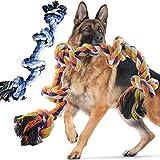 Wordcam Paquete de 2 Juguetes de Cuerda para Perros para masticadores agresivos Juguetes de Cuerda Dura para Masticar para Perros Grandes y medianos Tug War Limpieza de Dientes