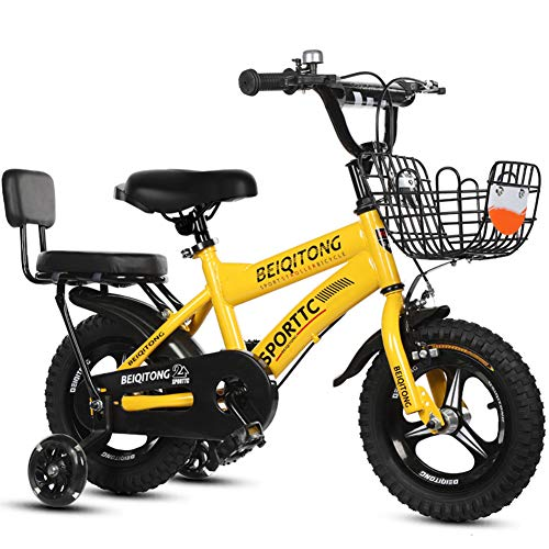 KXDLR Meisjes Kinderfiets 12 14 16 18 Inch Fiets voor 2-10 Jaar Oud Kinderfiets met Mand Training Wielen Bike