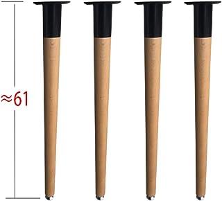 テーブル脚16インチコーヒーテーブルエンドテーブル用木製家具脚ミッドセンチュリーモダンDIY家具テーパーナチュラルハンガーボルトパック4個入り