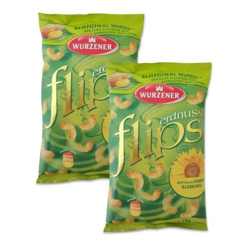 Wurzener Erdnuss Flips 2er Pack (2 x 75 g)