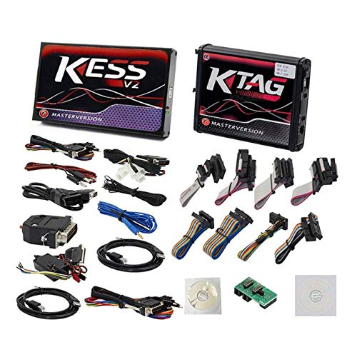 Ballylelly Für KESS v2 V5.017 OBD2 + Ktag V7.020 Master Red PCB Kein Token Begrenzt ECU Chip Tuning Programmiertool Euro Online Version