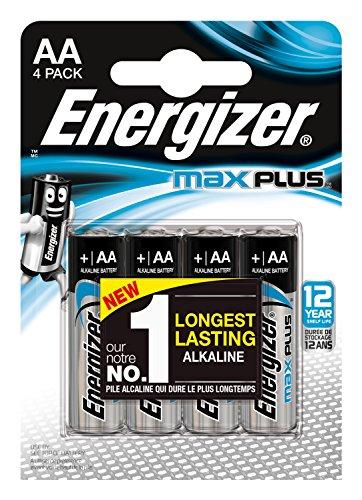 Oferta de Energizer Alcalina MAX Plus - Pack de 4 Pilas Alcalinas AA MAX Plus