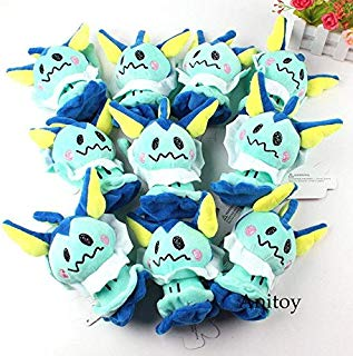 eSunny Mimikyu Plush Pendant Mimikyu Cos Espeon Flareon Soft Stuffed Animal Plush Toys 10Pcs/Lot Holiday Must Haves 7 Year Old Girl Gifts The Favourite Toys Superhero Party Favors LOL Unboxed